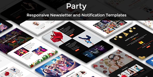 Party - Multipurpose Responsive Email Templates            TFx Grover Placid