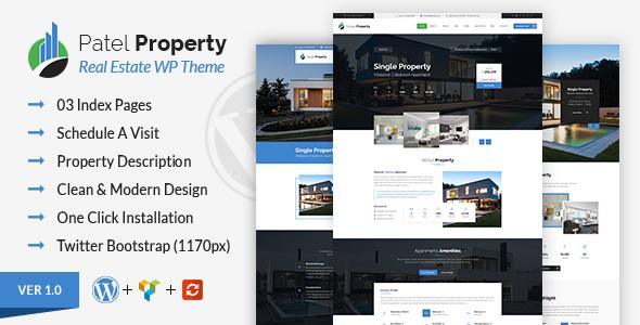 Patel - Property WordPress Theme            TFx Indigo Riley