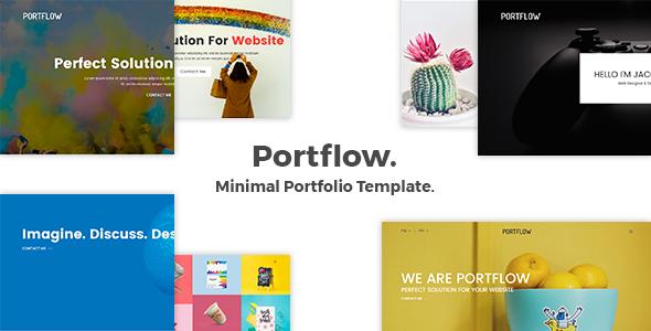 Portflow - Minimal Portfolio Template            TFx Briar Raja