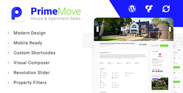 Primemove - Real Estate Property WordPress Theme            TFx Abdul Cash