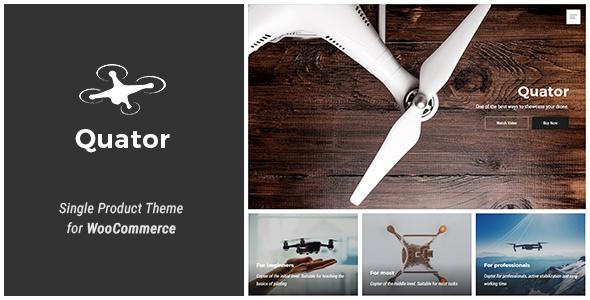 Quator - Single Product WordPress Theme            TFx Lorrin Forest