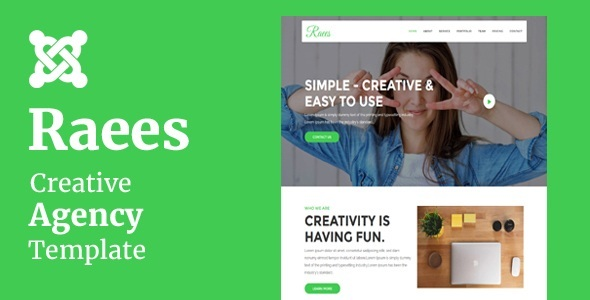 Raees - Creative Agency Joomla Theme With Page Builder            TFx Carter Niles