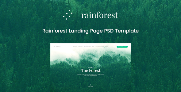 Rainforest Landing Page PSD Template            TFx Ferdy Warrick
