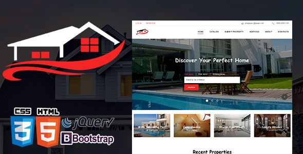 Real Estate Agency - Property HTML5 Reponsive            TFx Evelyn Dee