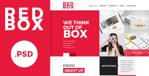 Redbox Single Page PSD Web Template            TFx Muhammad Constant