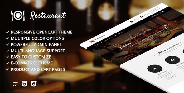 Restaurant – Responsive Opencart Template            TFx Glanville Osmond