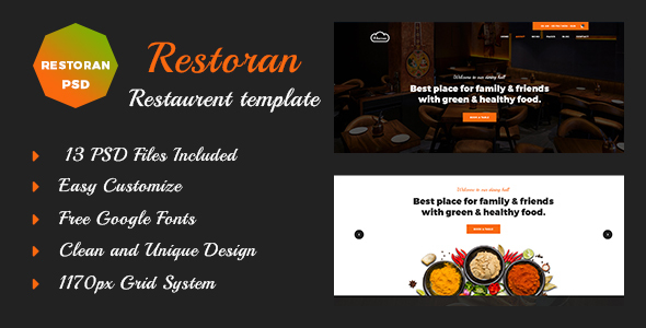 Restoran Hotel and Restaurant  PSD Template            TFx Skenandoa Johnathan