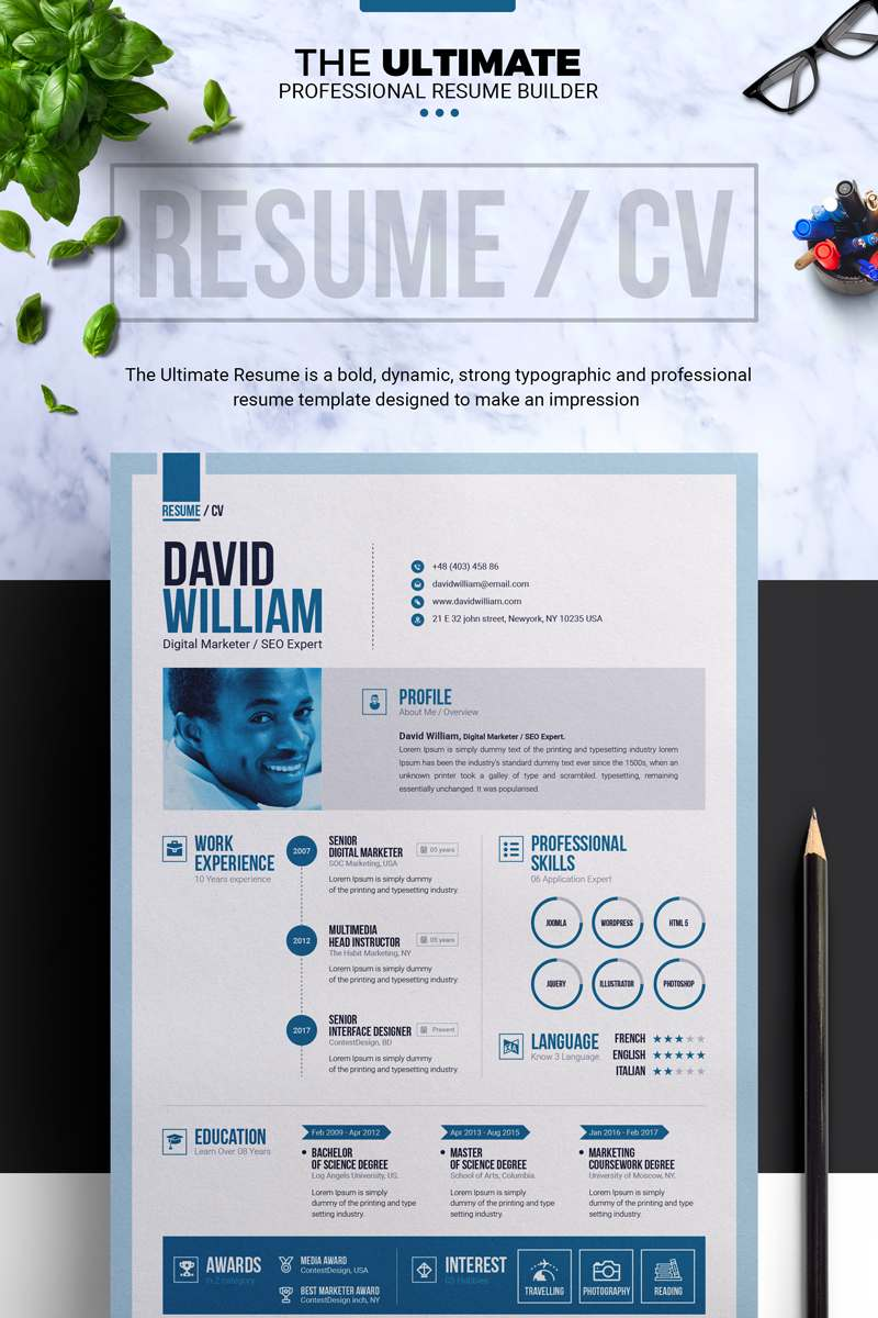 Job / CV Builder With MS Word Resume Template TMT Chesley Davey