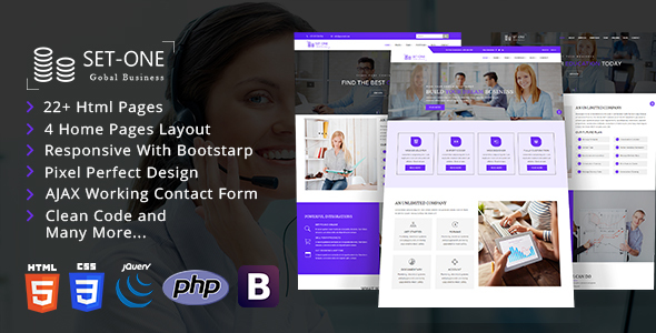 Set One - Multiperpose Corporate Business HTML5 Template            TFx Levi Errol