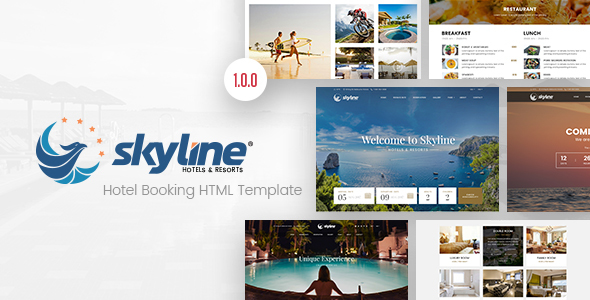 SkyLine - Hotel Booking HTML Template            TFx Emery Carver