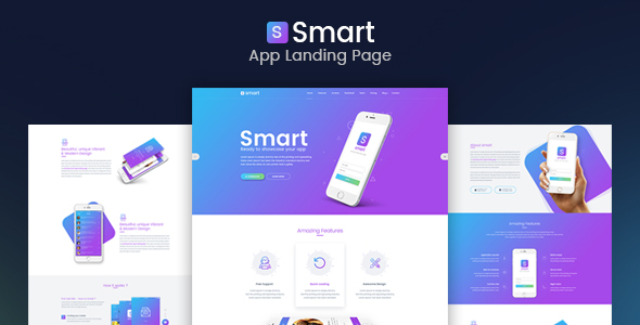 Smart – App Landing Page PSD Template            TFx Eddy Justy