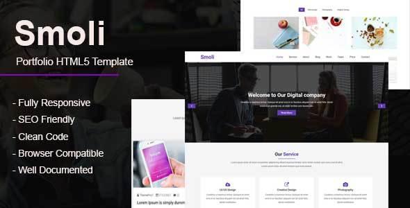 Smoli - Personal Portfolio HTML5 Template            TFx Connie Kyle