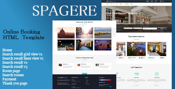 Spagere - Online Booking HTML Website Template            TFx Rob Preston