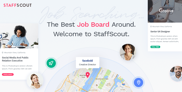 StaffScout - A Powerful Job Board Theme            TFx Samson Stan