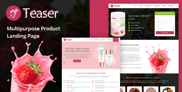 Teaser – Multipurpose Product Landing Page            TFx Wolf Wright