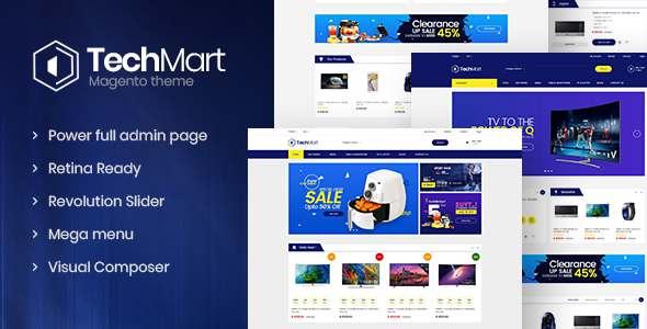 Techmart - Multi-Purpose Responsive Magento2 Theme            TFx Benson Juro