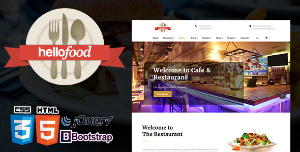 The Restaurant | Restaurant Cafe  & Food Template Responsive            TFx Forest Gladwin