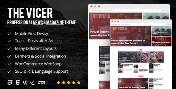 The Vicer - Professional News & Magazine WordPress Theme            TFx Swithin Setiawan