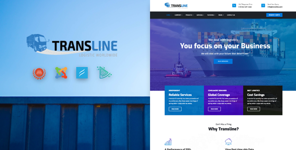 Transline – Transport, Logistics Joomla Template            TFx Fox Cauã