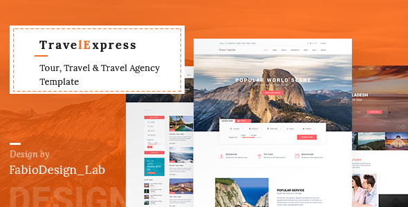 TravelExpress - Tour, Travel & Travel Agency Template            TFx Rolf Sandford