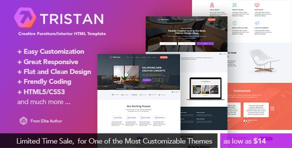 Tristan - Interior Design & Business Responsive Html5 Template            TFx Ralf Ruben