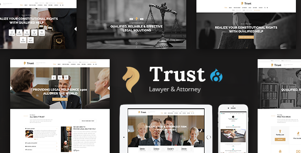 Trust - Lawyer & Attorney Business Drupal 8 Theme            TFx Homer Garegin
