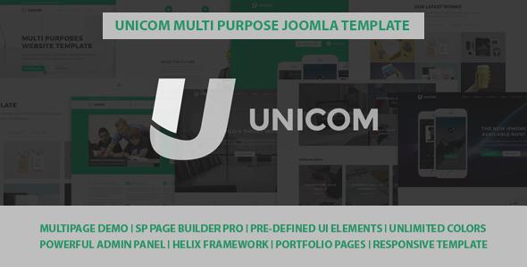 Unicom Responsive Multi Purpose Joomla Template            TFx Elwood Casey