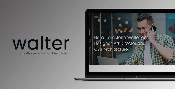 Walter - Creative Personal HTML Template            TFx Hidayat Spartak