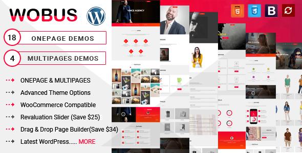 Wobus - Onepage & Multi Pages Business WordPress Theme            TFx Nigel Leonard