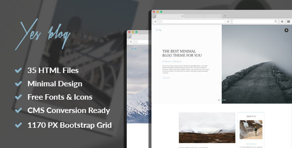 Yes Blog - Multipurpose Minimal Blog Design HTML Template            TFx Gerrard Mervyn