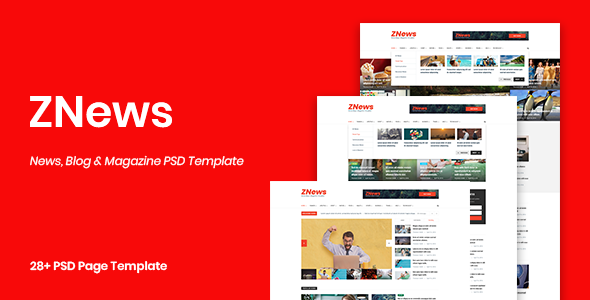 ZNews - News, Blog & Magazine PSD Template            TFx Masaru Sammy