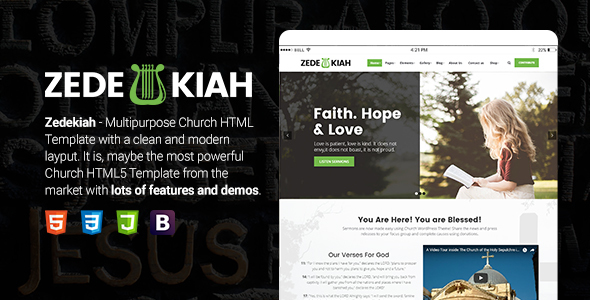Zedekiah - MultiPurpose Church & Religion HTML Template            TFx Gaz Oral