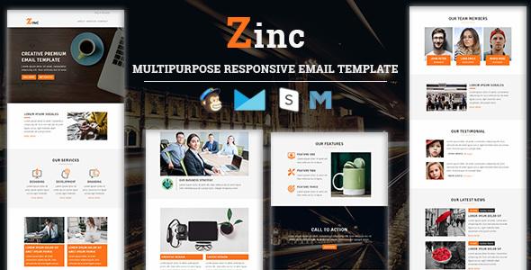 Zinc – Multipurpose Responsive Email Template            TFx Eliott Warner