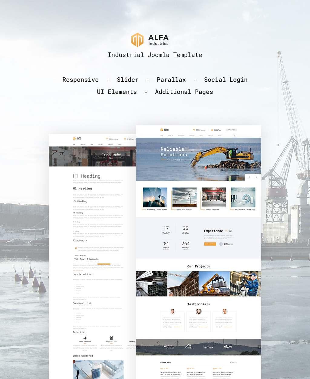 ALFA Industries - Industrial Joomla Template TMT Shiori Amir