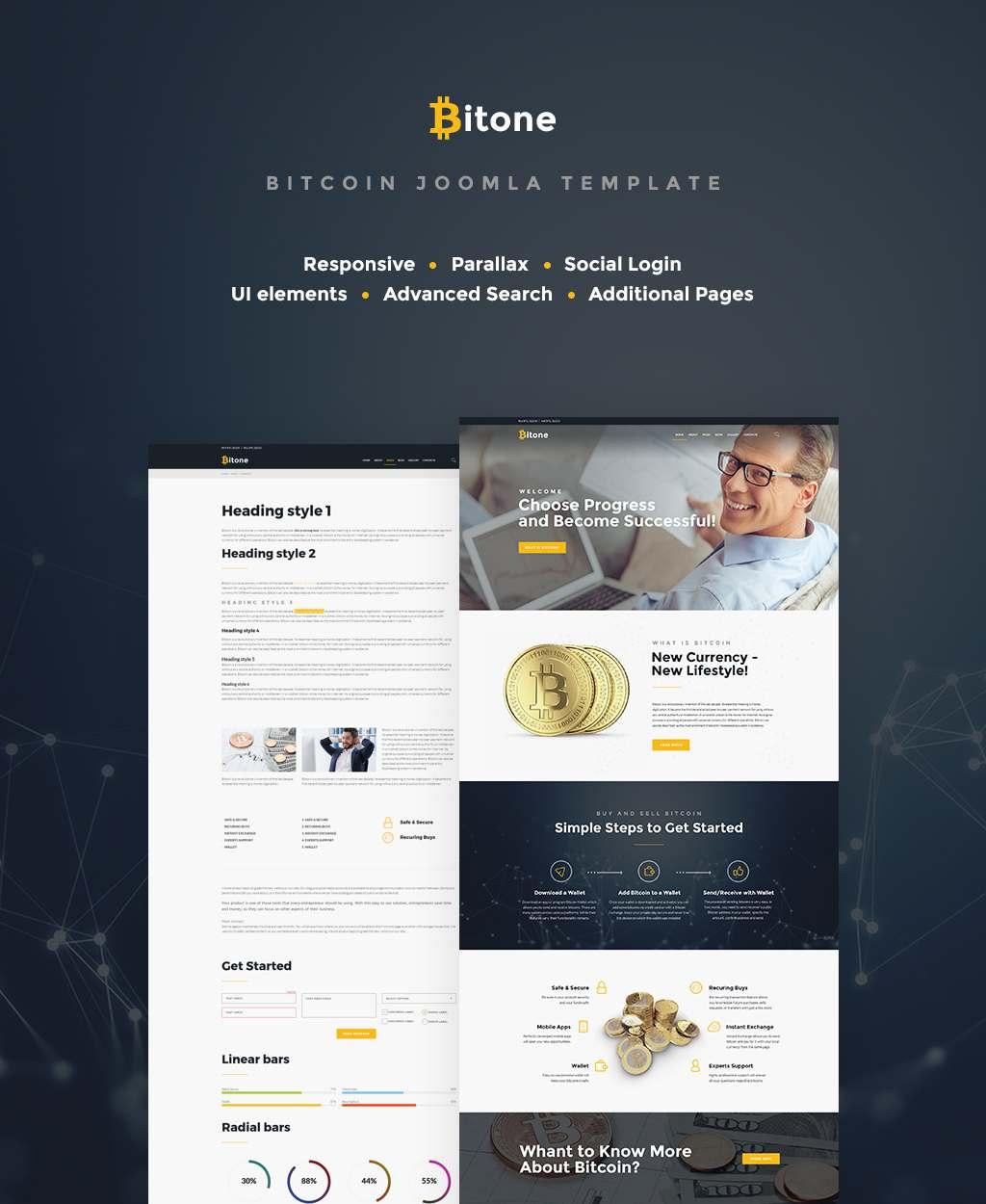 Bitone - Bitcoin Cryptocurrency Joomla Template TMT Boyce Braidy