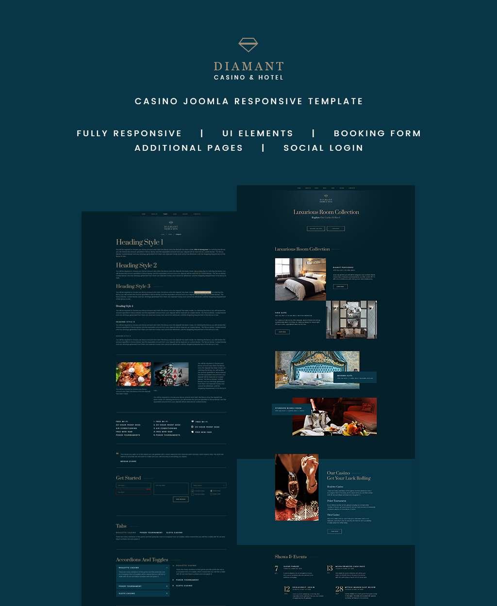 Diamant - Casino & Hotel Joomla Template TMT Talon Jameson