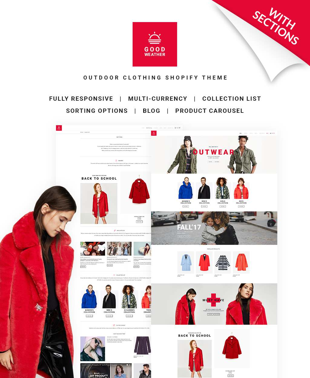 GoodWeather - Outdoor Clothing Shopify Theme TMT Pearce Peregrine