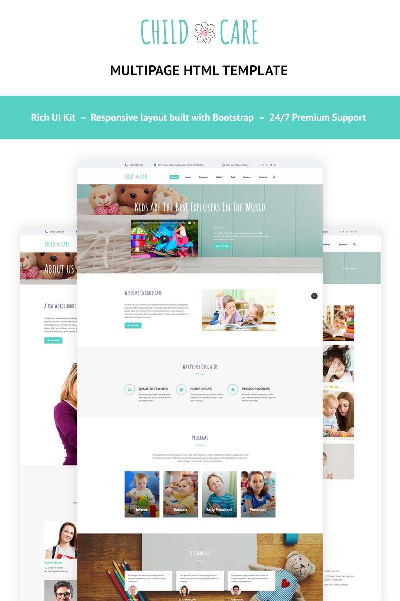 Child Care - Day Care Website Template TMT Nanook Kip