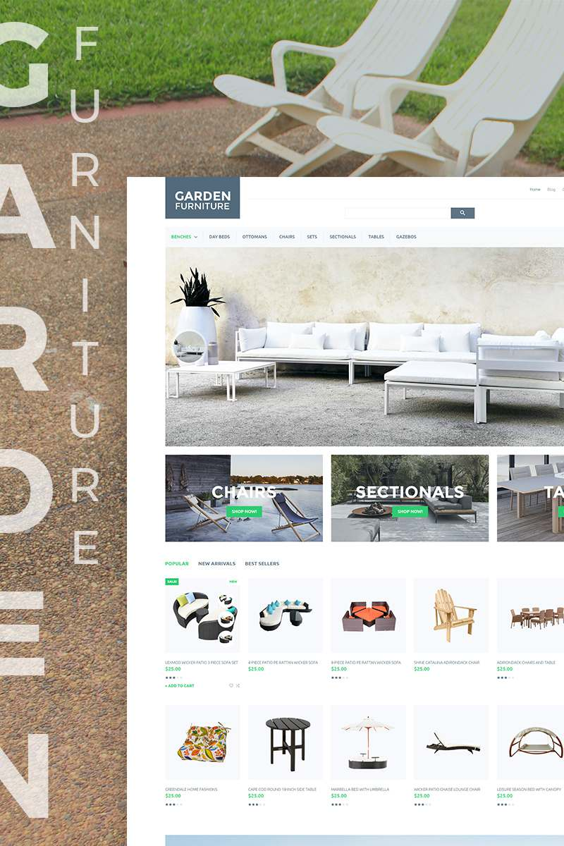 Garden Furniture PrestaShop Theme TMT Osborn Paul