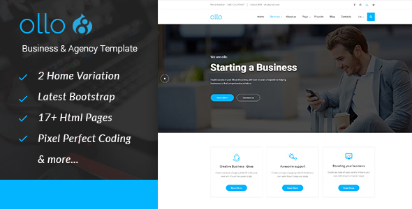 ollo Business & Agency Drupal 8.4 Theme            TFx Keegan Geghard