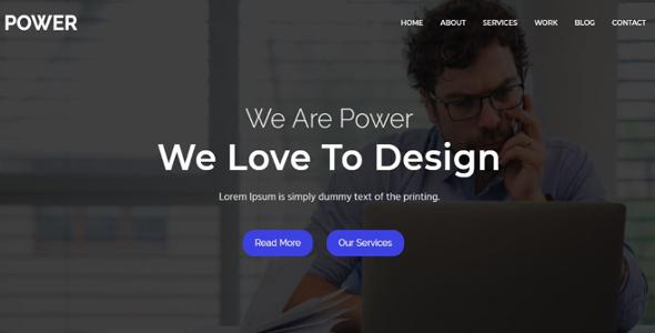power - One Parallax Business Template            TFx Wayra Mahpiya