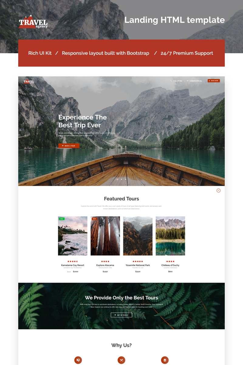 Travel Agency Responsive Landing Page Template TMT Darius Lester