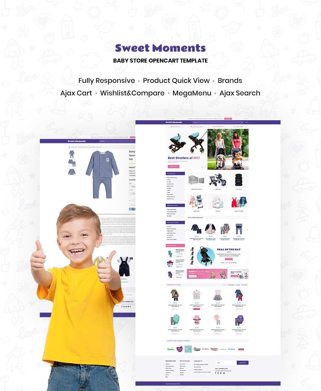 WholeSale – Baby Store OpenCart Template TMT Darden Gurch