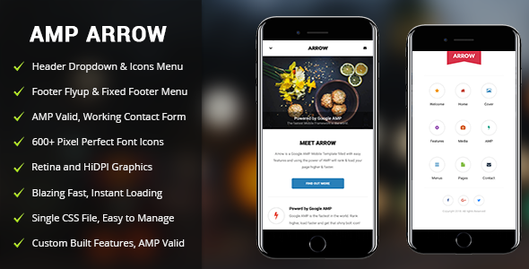 AMP Arrow | Mobile Google AMP Template            TFx Pompey Alexis