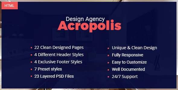 Acropolis - Creative Interior Design Agency Template            TFx Nathan Braeden