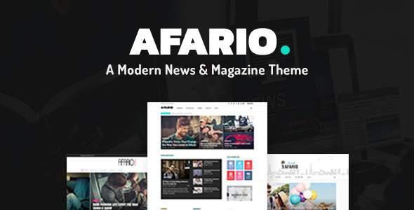 Afario – A Modern News & Magazine Theme            TFx Deven Chad