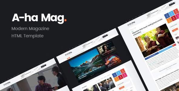 AhaMag | Modern Magazine HTML Template            TFx Algernon Bryson