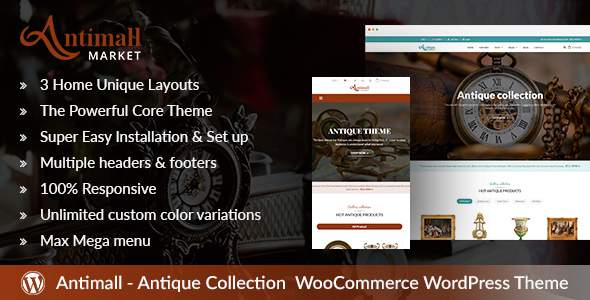 AntiqueMall – Antique Store Marketplace Wordpress Theme            TFx Rob Royce