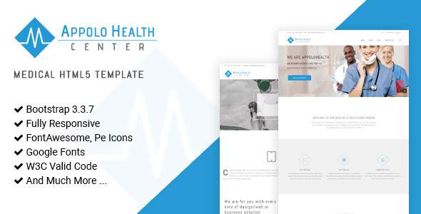 Appolo - Medical HTML5 Website Template            TFx Frank Donald