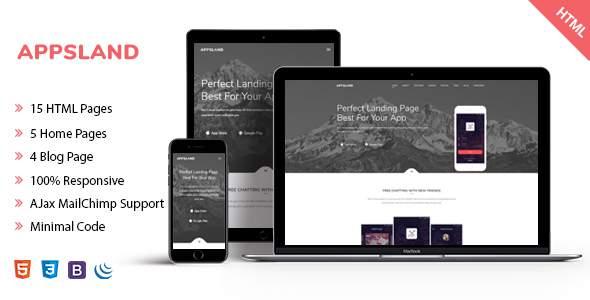 Appsland - App Landing HTML5 Template            TFx Deemer Erle